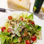 舞茸と絹さやとカリフラワーの焼きサラダ